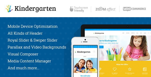 ThemeForest Kindergarten Children WordPress Theme 8039555