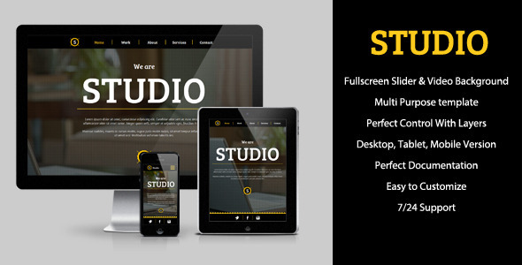 ThemeForest Studio Multipurpose Muse Theme 7685761