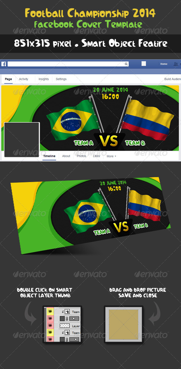 GraphicRiver Football Championship 2014 Fixture Facebook Cover 8039622