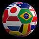 3D Soccer Ball with Flags of Brazil 2014 - VideoHive Item for Sale