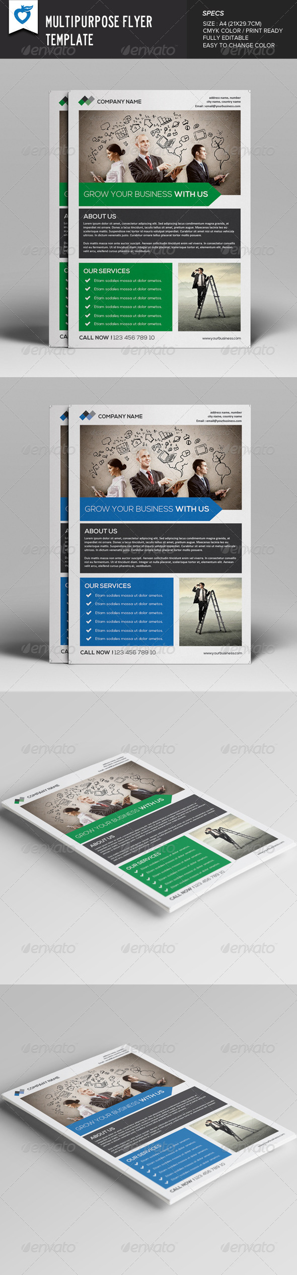 GraphicRiver Multipurpose Flyer Template v3 8035780