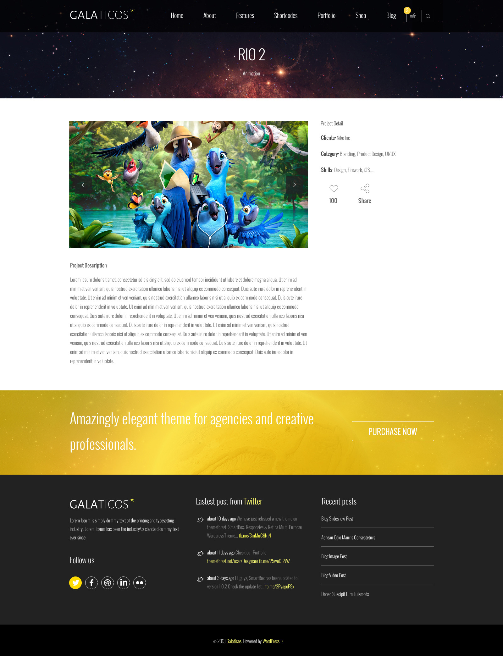 Galaticos | Multi-Purpose PSD Template