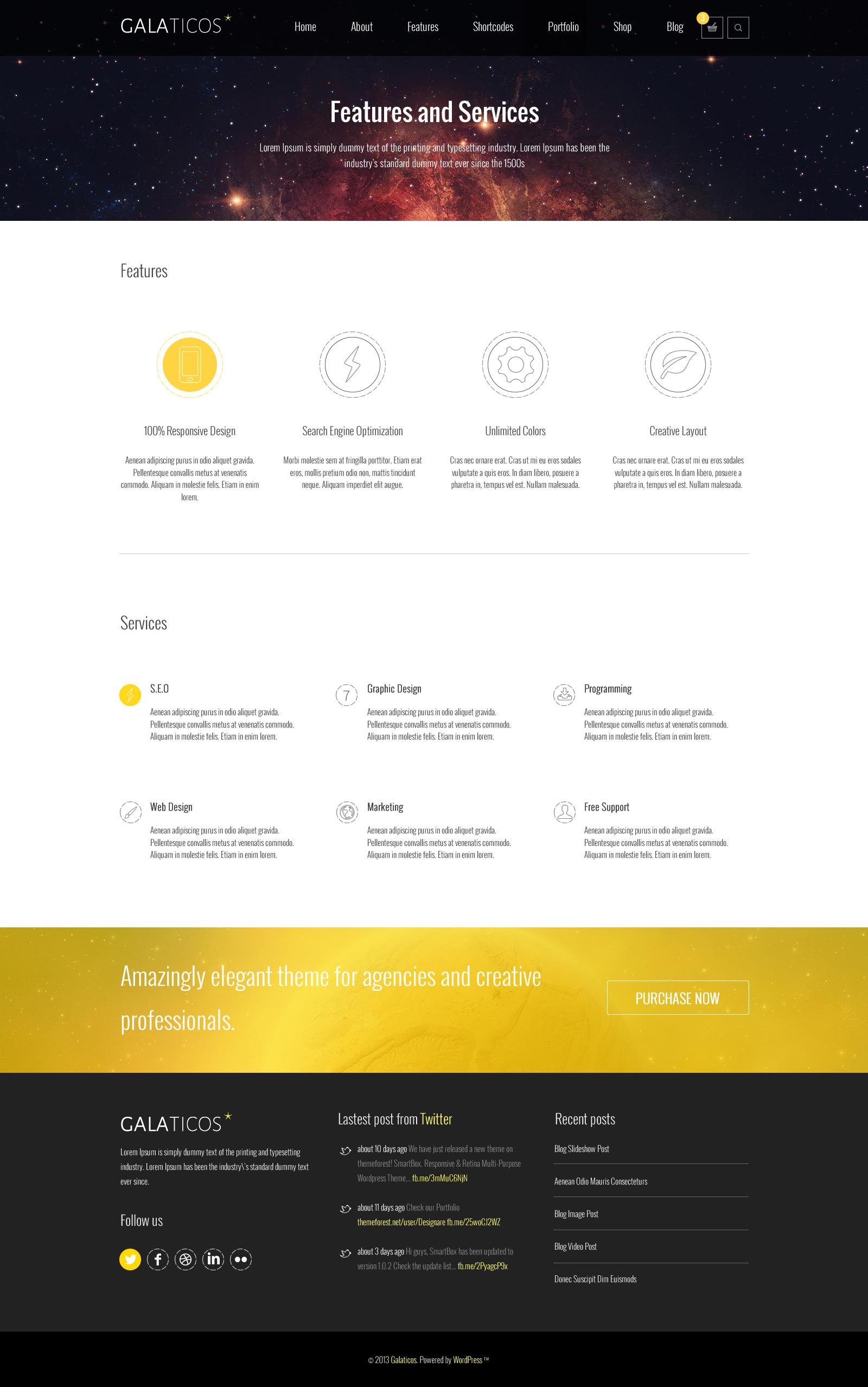 Galaticos | Multi-Purpose PSD Template