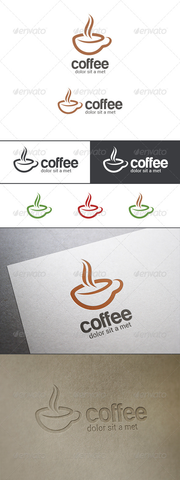 GraphicRiver Coffee Bar Cafe Logo 8040112