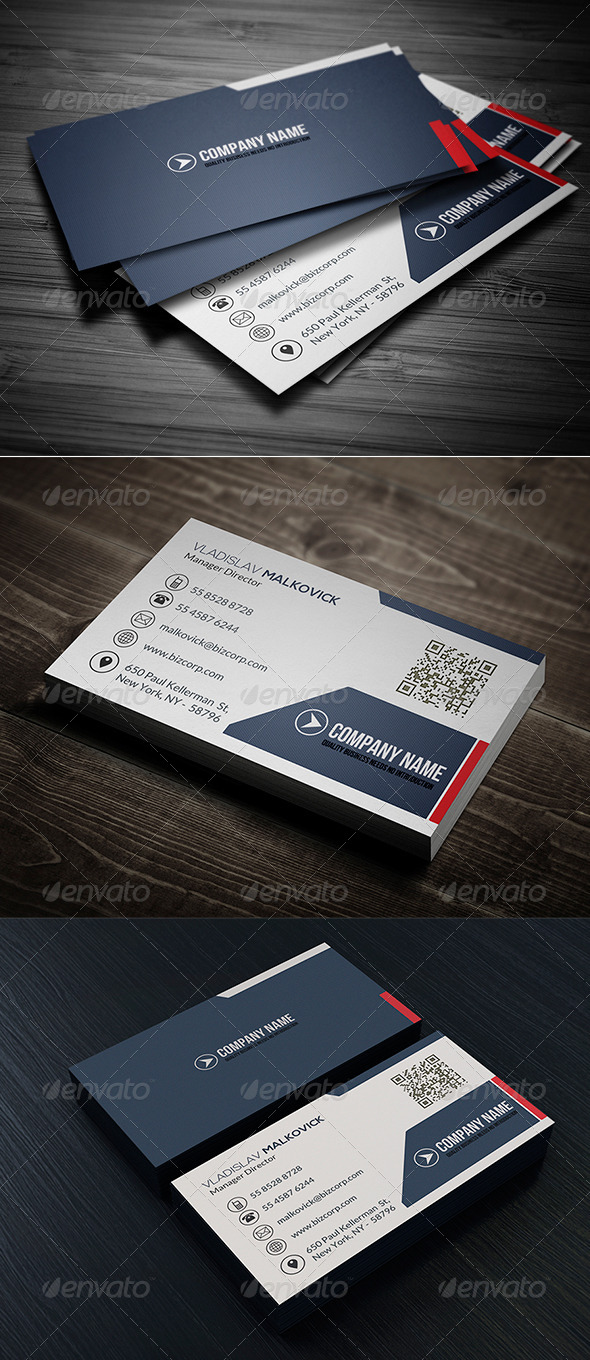 GraphicRiver Clean Business Card Vol 08 8040113