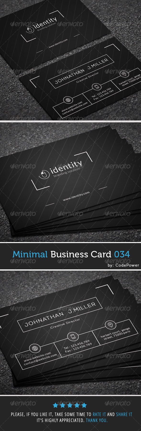 GraphicRiver Minimal Business Card 034 8040118