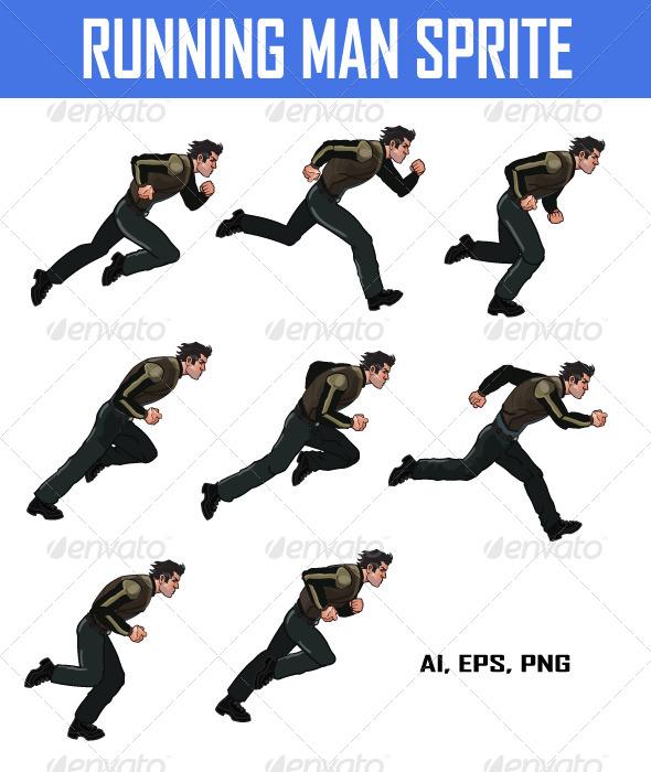 GraphicRiver Running Man Sprite 8040119