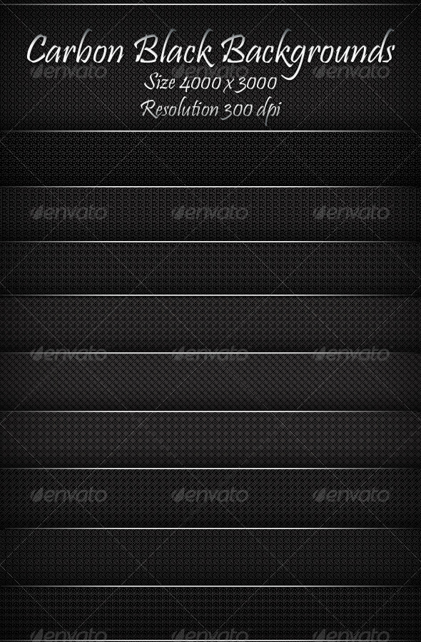 GraphicRiver Carbon Black Backgrounds 8040215