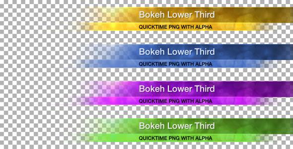 VideoHive Bokeh Lower Third 820366