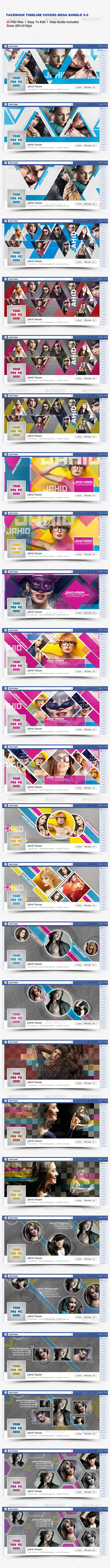 GraphicRiver Facebook Timeline Covers Mega Bundle V-2 8040334