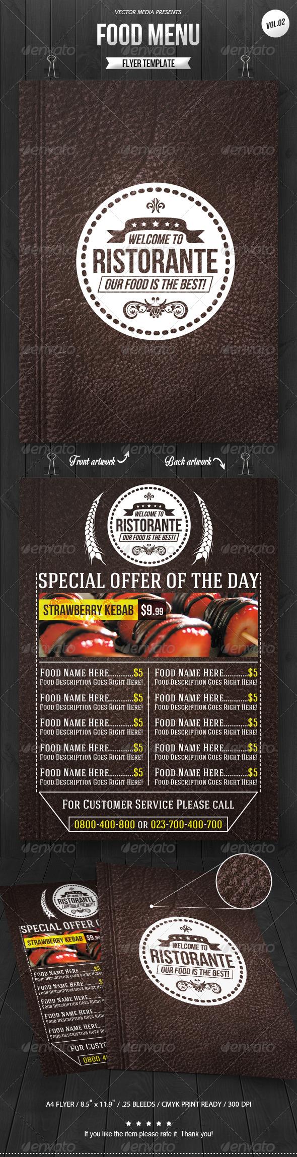 GraphicRiver Food Menu Flyer [Vol.2] 8037135