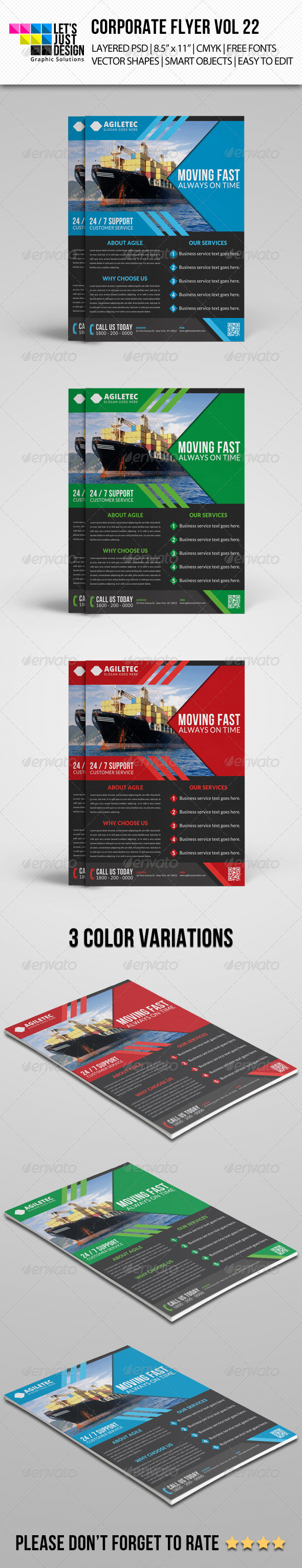 GraphicRiver Corporate Flyer Template Vol 22 8040443