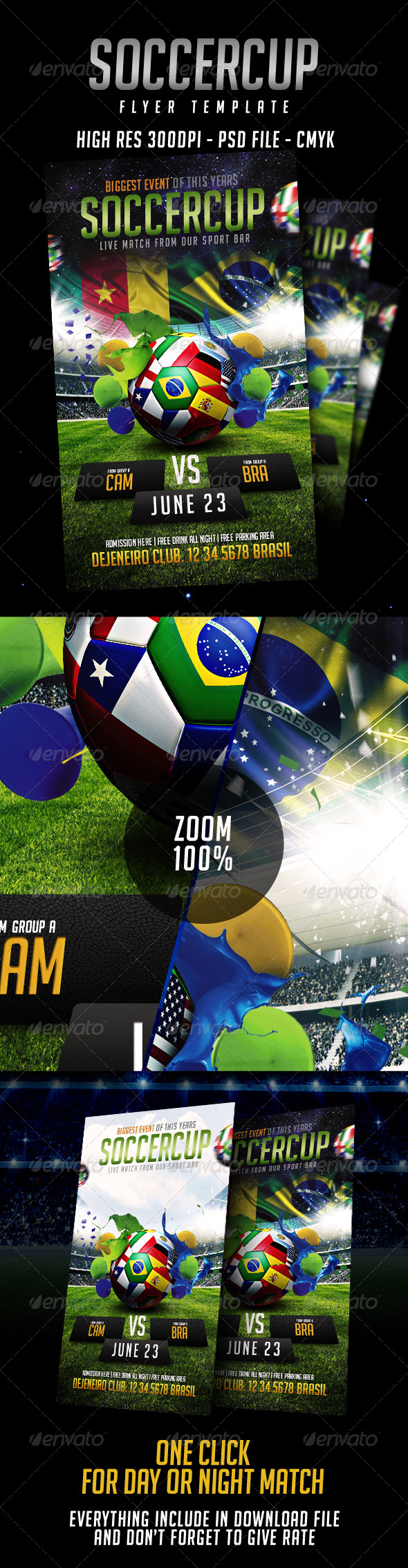 GraphicRiver Soccer Flyer Template 8040546
