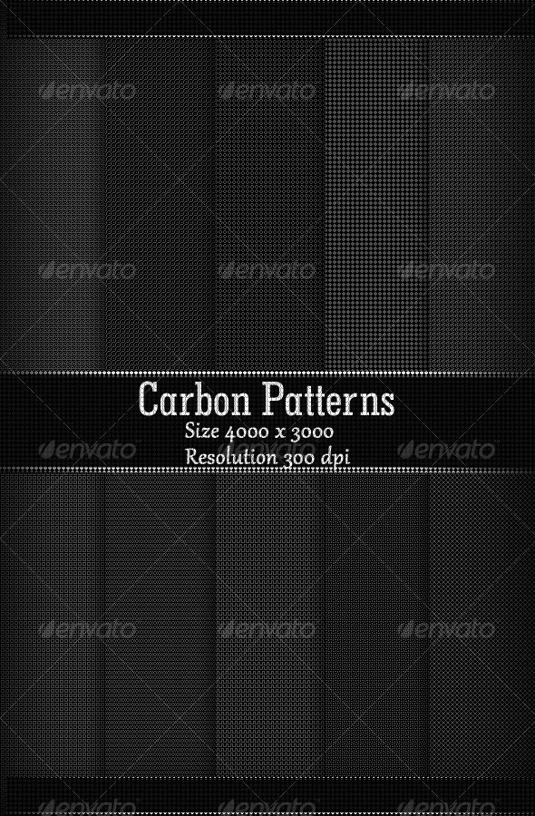 GraphicRiver Carbon Patterns 8040698