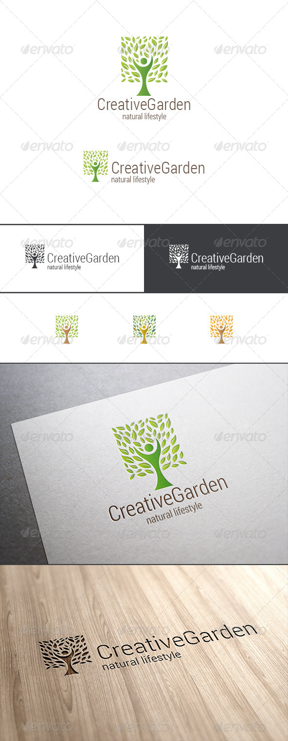 GraphicRiver Green Tree Logo Natural Product 8040754