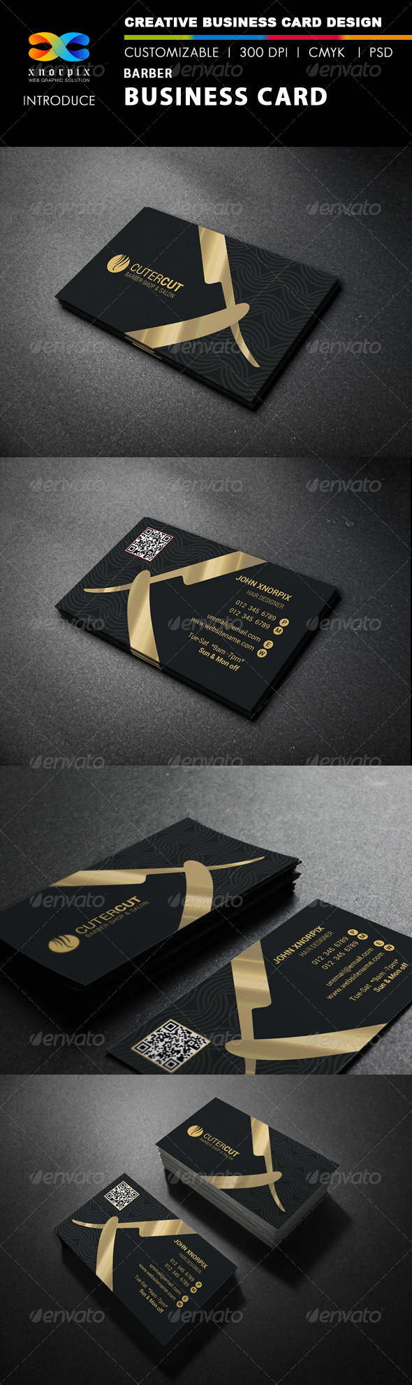 Barber Business Card - Print Templates