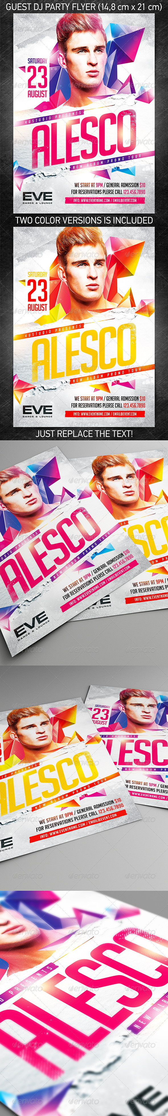 GraphicRiver Guest DJ Party Flyer vol.5 8036042