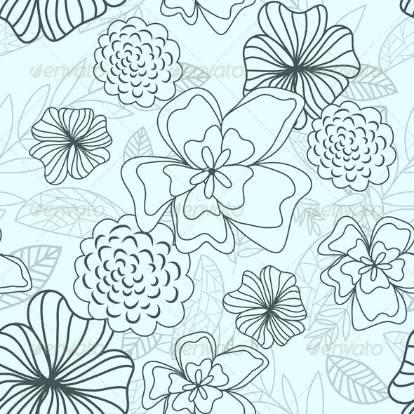 GraphicRiver Floral Seamless Pattern 8040857
