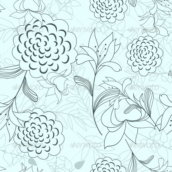 GraphicRiver Seamless Floral Pattern 8040954
