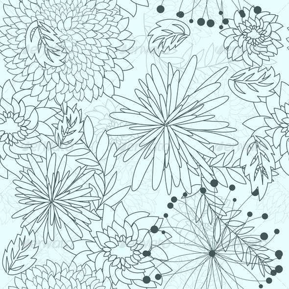 GraphicRiver Floral Seamless Pattern 8040977
