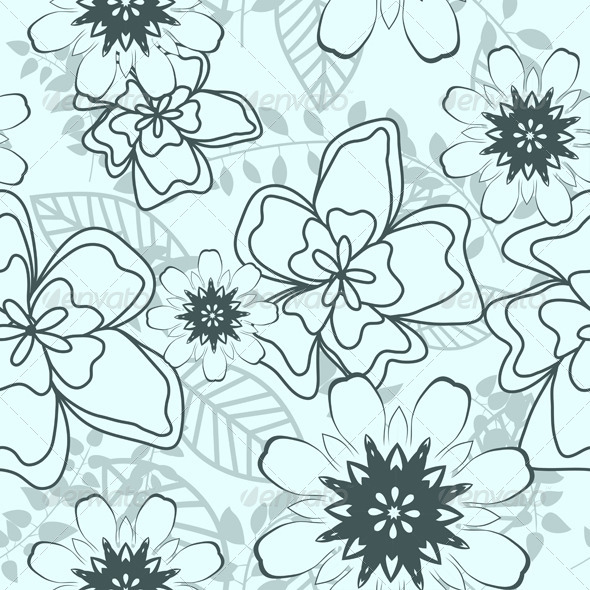 GraphicRiver Floral Seamless Pattern 8040985