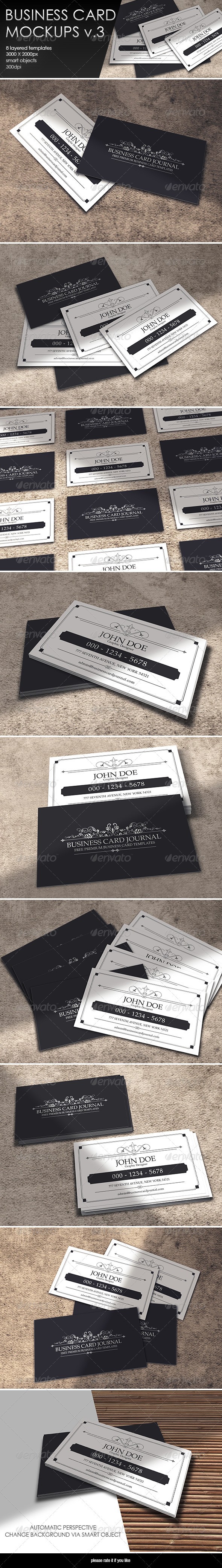 GraphicRiver Business Card MockUp-Vol.3 8041132