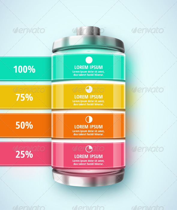 GraphicRiver Battery Infographic 8009808