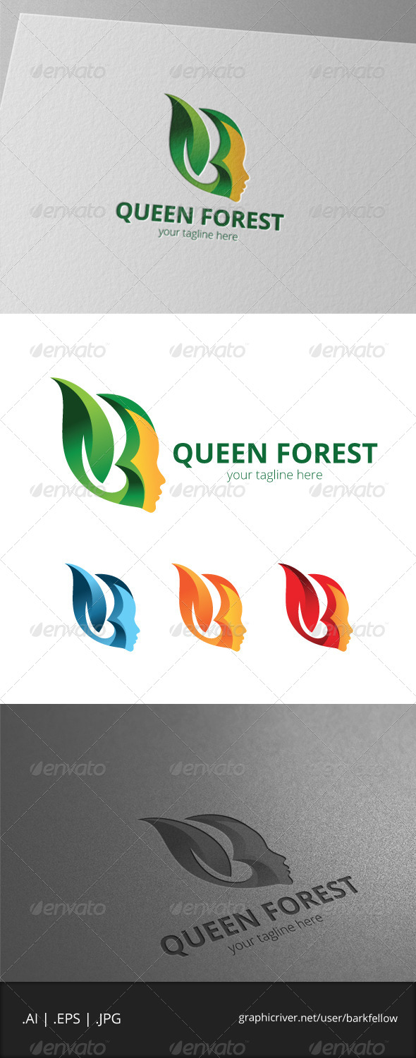 GraphicRiver Queen Forest Logo 8041690