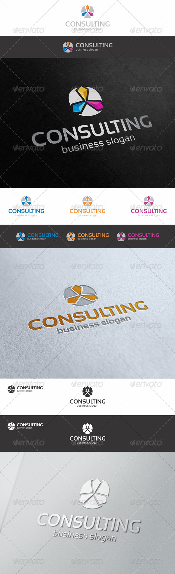 GraphicRiver Consulting Construction Logo Template 8041797