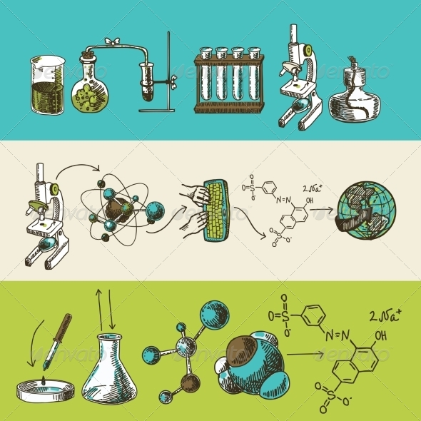 GraphicRiver Chemistry Sketches 8041903