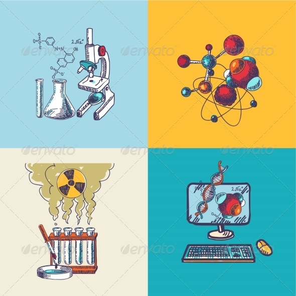 GraphicRiver Chemistry Sketches 8041910