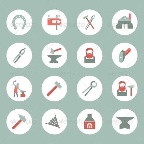GraphicRiver Blacksmith Icons Set 8041932