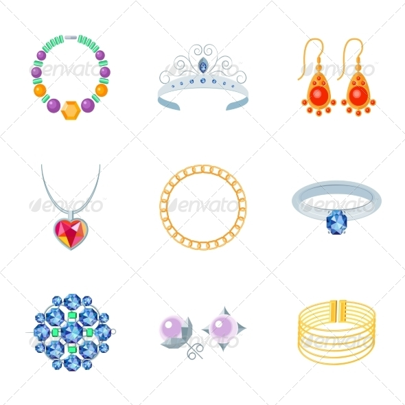 GraphicRiver Jewelry Icons Flat 8041938