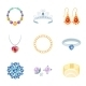 Jewelry Icons Flat - GraphicRiver Item for Sale
