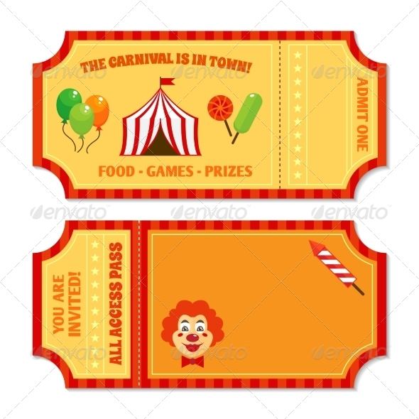 GraphicRiver Circus Tickets Template 8041941