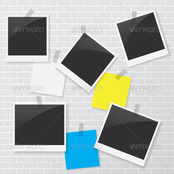 GraphicRiver Photo Frame on Brick Wall 8041957
