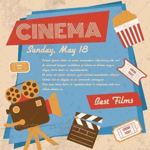 GraphicRiver Retro Cinema Poster 8041979