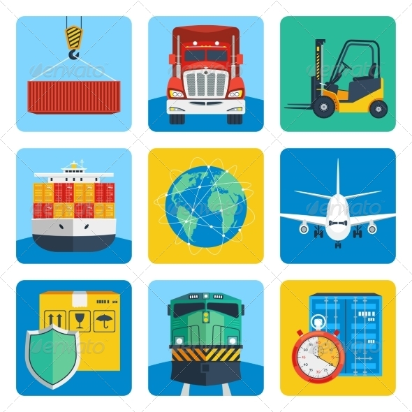 GraphicRiver Logistic Icons Set 8041982