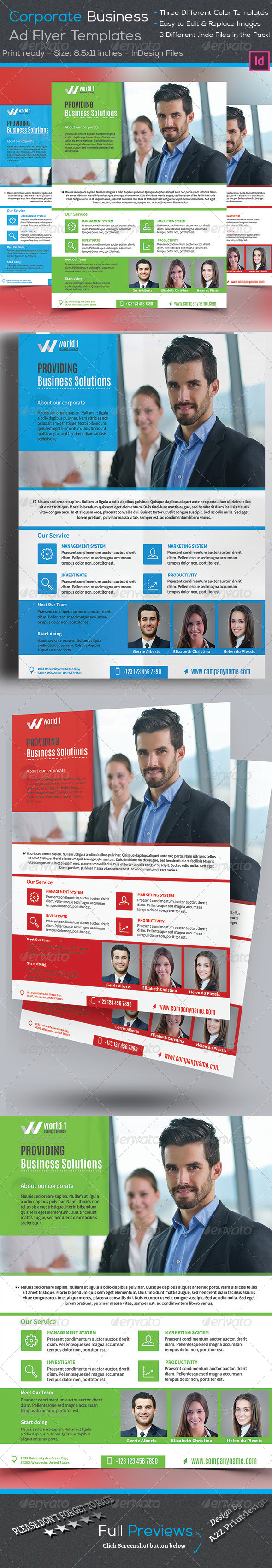 GraphicRiver Corporate Business Flyer 8042083