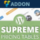 Supreme Pricing Tables Visual Composer Addon - CodeCanyon Item for Sale