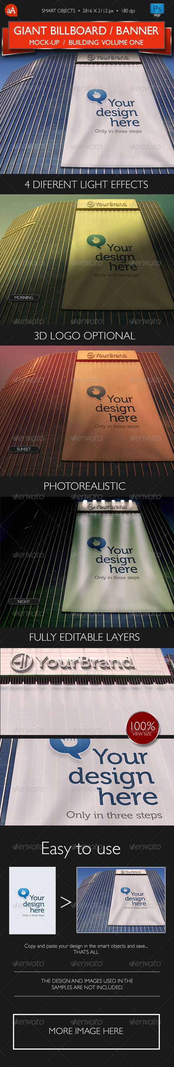 GraphicRiver Giant Billboard Banner Mock-Up Vol.1 8042338