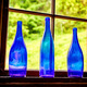 Three Blue Glass Bottles - PhotoDune Item for Sale