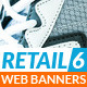 Retail 6 Web Banners - GraphicRiver Item for Sale
