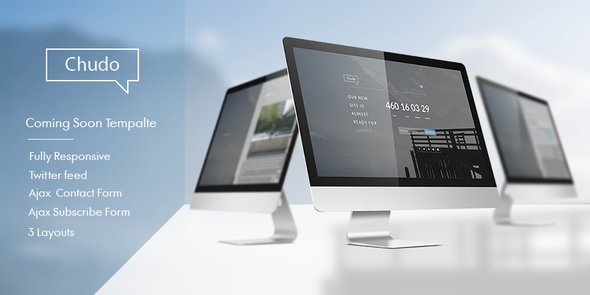 ThemeForest Chudo Responsive Coming Soon Template 7956392