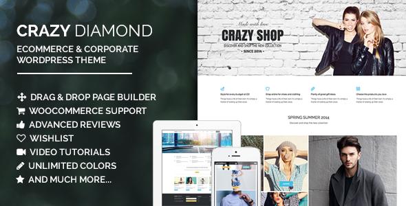 ThemeForest Crazy Diamond Ecommerce & Corporate Theme 8042458