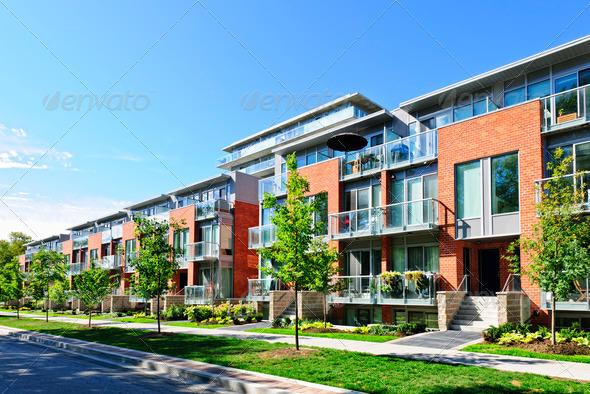 PhotoDune Modern town houses 820899