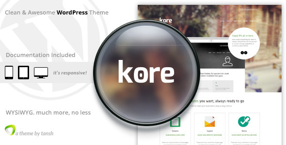 The Kore Responsive Business WordPress Theme - Business Corporate