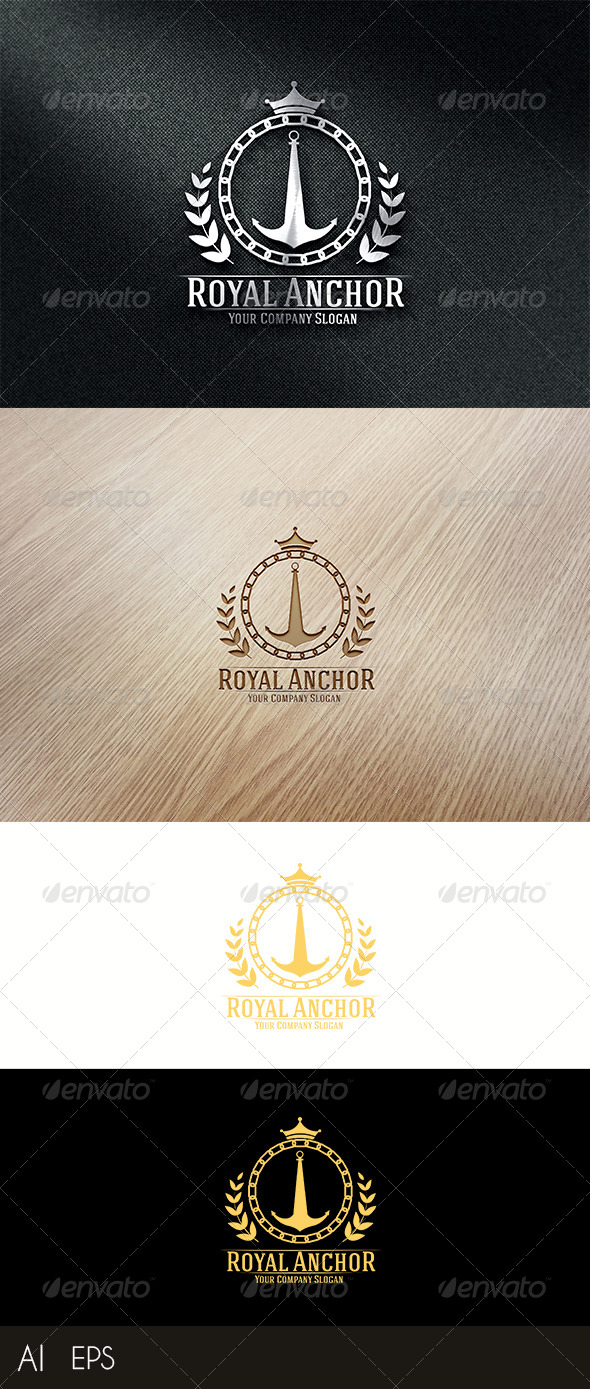 GraphicRiver Royal Anchor Logo Template 8042581
