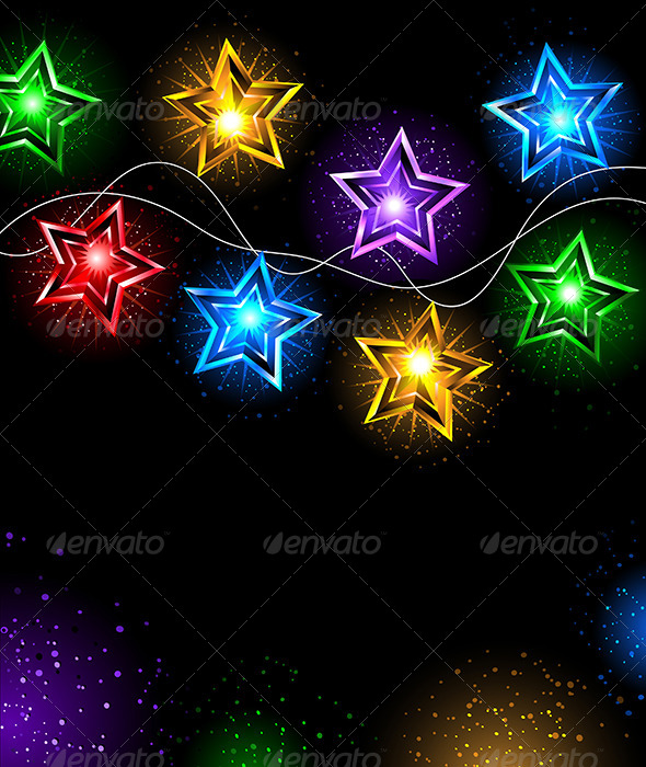 GraphicRiver Garland of Stars 8042793