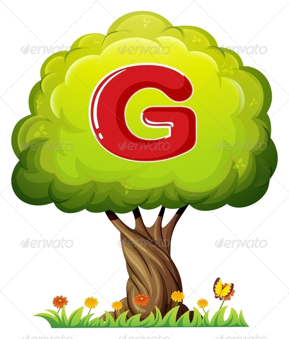 GraphicRiver Tree With Letter G 8042836